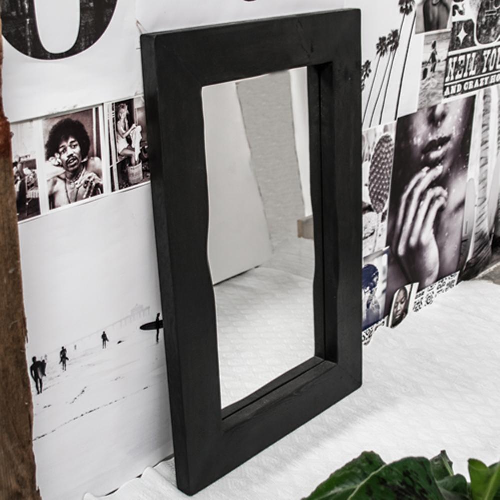 Spiegel met zwarte lijst amazing spiegel venice with for Zwarte spiegel